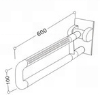 50200307- Nylon U-shape Swing Up Grab Bar