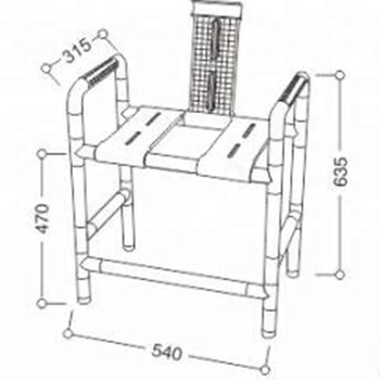 50200287-Nylon Seat for Shower